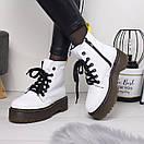 Женские натуральные ботинки на шнуровке невысокие 74OB13, фото 2