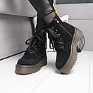 Женские натуральные ботинки на шнуровке невысокие 74OB13, фото 3
