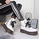 Женские натуральные ботинки на шнуровке невысокие 74OB13, фото 7