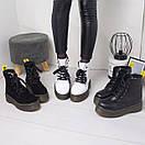 Женские натуральные ботинки на шнуровке невысокие 74OB13, фото 8
