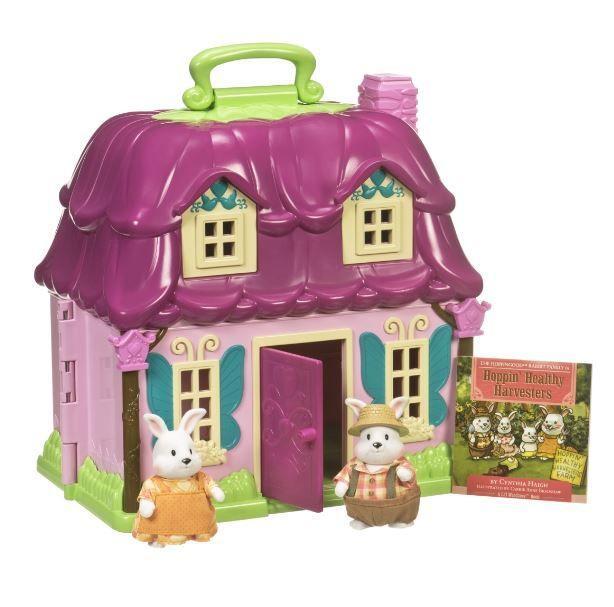 """Игровой набор Li'l Woodzeez -  Загородный домик (домик, 2 фигурки кроликов, сказка """"Сытые животики"""")"""