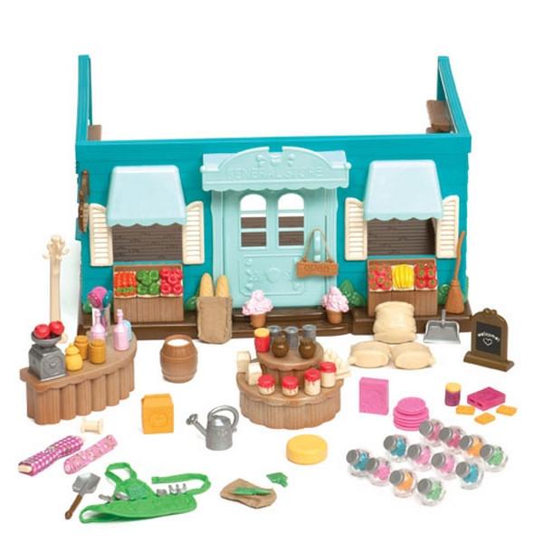 Игровой набор Li'l Woodzeez -  Продуктовый магазин (90 аксессуаров)