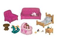 Игровой набор Li'l Woodzeez - Гостиная и детская комната (23 аксессуара)