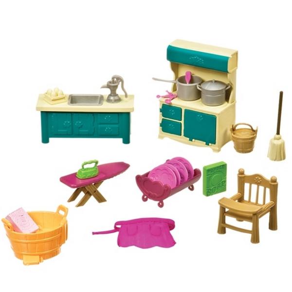 Игровой набор Li'l Woodzeez - Кухонька и подсобная (21 аксессуар)