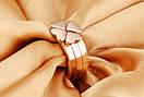"""Кольцо розовое золото """"Клевер"""" 7, фото 4"""