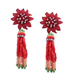 Серьги-кисти из бисера Zara