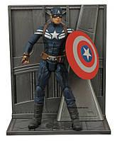 """Фигурка Капитана Америки из к\ф Первый мститель """"Другая Война""""  - Captain America, Marvel Select"""