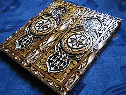Нарды в резьбе сувенирные, фото 2