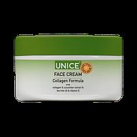 Крем для обличчя Unice з колагеном та екстрактом огірка, 100 мл