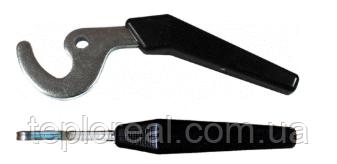 Ручка-крючок для твердотопливного котла длинная (6 мм) (Польша)