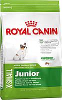 Сухой корм корм для щенков миниатюрных размеров  Royal Canin X-Small Junior 3кг