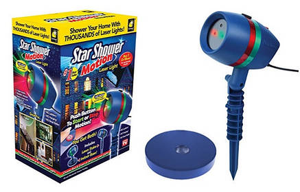 Лазерный проектор | Уличный проектор снежинки | Лазерный звездный проектор Star Shower motion 86, фото 2