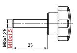 Ручка-звездочка для твердотопливного котла M10*40 с внеш. резьбой  (Польша), фото 4