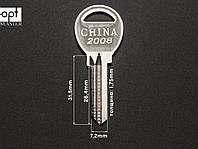 Заготовка ключа CHINA 2008, фото 1