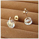Сережки Fox c цирконієм, фото 4