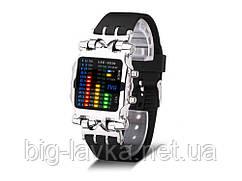 Светодионые спортивные часы для мужчин LED 2231 цифровые  Серебристый