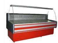 """Витрина холодильная  """"Пальмира -1.3"""" выкладка 590 мм, гнутое стекло Айстермо"""