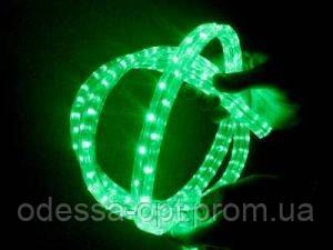 Светодиодный дюралайт зеленый 3 жильный