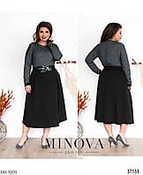 Эффектное женское платье батал в деловом стиле с 54 по 62 размер