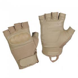 M-Tac перчатки тактические беспалые Assault Tactical Mk.4 хаки