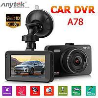 Автомобільний відеореєстратор Anytek A78 3-дюймовий IPS 1080P 170 градусів