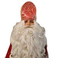 Шапка Деда Святого Николая красная
