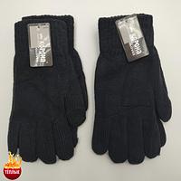 Тёплые перчатки мужские двойные шерсть  Корона 8114 ПМЗ-161611
