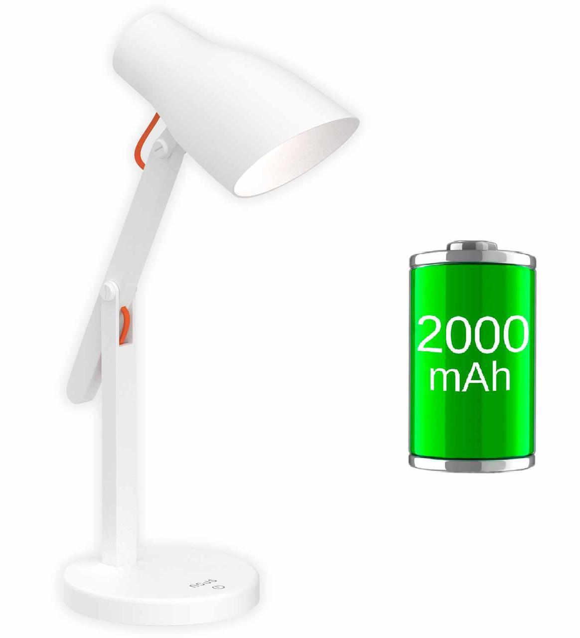 Настольная лампа NOUS S6 White с Аккумулятором