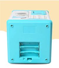 Электронные копилки | Копилка для детей | Детская копилка сейф Robot Bodyguard с отпечатком пальца голубой, фото 3