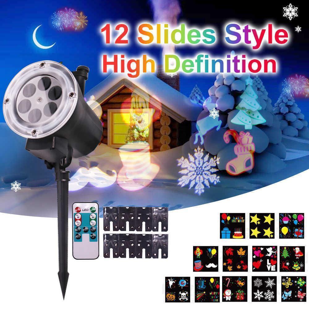 Портативний проектор з пультом Garden Projector Card change 12 слайдів