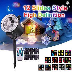 Портативний проектор з пультом Garden Projector Card change 12 слайдів, фото 2