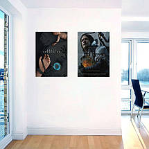 "Постер ""Death Stranding. Bridge Baby и рука с наручниками"". Размер 60x43см (A2). Глянцевая бумага, фото 3"