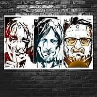 """Постер """"Death Stranding. Сэм, Дедмен, Клифф"""", рисунок (репродукция). Размер 60x34см (A2). Глянцевая бумага"""