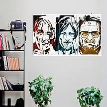 """Постер """"Death Stranding. Сэм, Дедмен, Клифф"""", рисунок (репродукция). Размер 60x34см (A2). Глянцевая бумага, фото 2"""