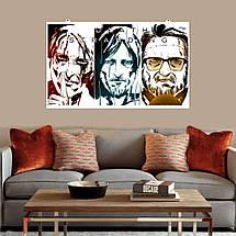 """Постер """"Death Stranding. Сэм, Дедмен, Клифф"""", рисунок (репродукция). Размер 60x34см (A2). Глянцевая бумага, фото 3"""