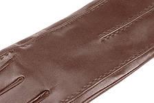 Чоловічі рукавички з натуральної шкіри модель 066 каштан на вовняної підкладці, фото 2
