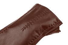 Чоловічі рукавички з натуральної шкіри модель 066 каштан на вовняної підкладці, фото 3