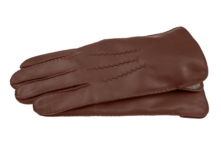 Перчатки кожаные IG модель 120 цвет каштан