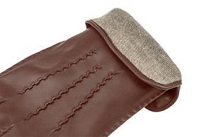 Перчатки кожаные IG модель 120 цвет каштан, фото 2