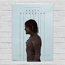 """Постер """"Death Stranding. Сэм Портер Бриджес"""". Норман Ридус в профиль, вертикальный. Размер 60x43см (A2). Глянцевая бумага, фото 2"""