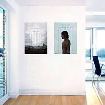 """Постер """"Death Stranding. Сэм Портер Бриджес"""". Норман Ридус в профиль, вертикальный. Размер 60x43см (A2). Глянцевая бумага, фото 3"""