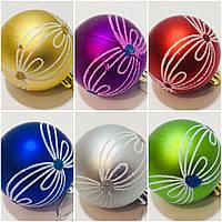 Упаковка красивых елочных шаров, диам. 6 см., в упаковке 6 шт. разного цвета, 68 грн.