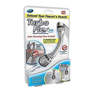 Насадка для крана Turbo Flex 360, аэратор для крана 360 градусов, фото 2