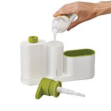 Органайзер для кухни Sink Tidy Sey Plus с дозатором для моющего средства или жидкого мыла, диспенсер для мыла, фото 2