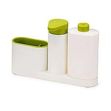 Органайзер для кухни Sink Tidy Sey Plus с дозатором для моющего средства или жидкого мыла, диспенсер для мыла, фото 3