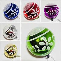 Новогодние елочные украшения, диам. 6 см., в упаковке 6 шт. разного цвета, 68 грн.