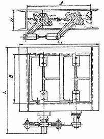 Клапан  прямоугольный двухосный ОН 536