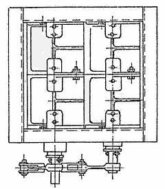 Клапан  прямоугольный двухосный ОН 536-01