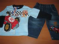 Детский джинсовый костюм двойка для мальчика  74, 80 см  Турция, фото 1