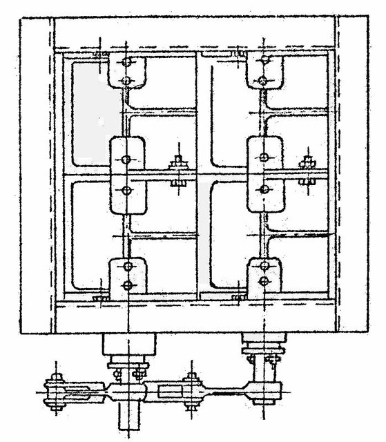 Клапан  прямоугольный двухосный ОН 536-03